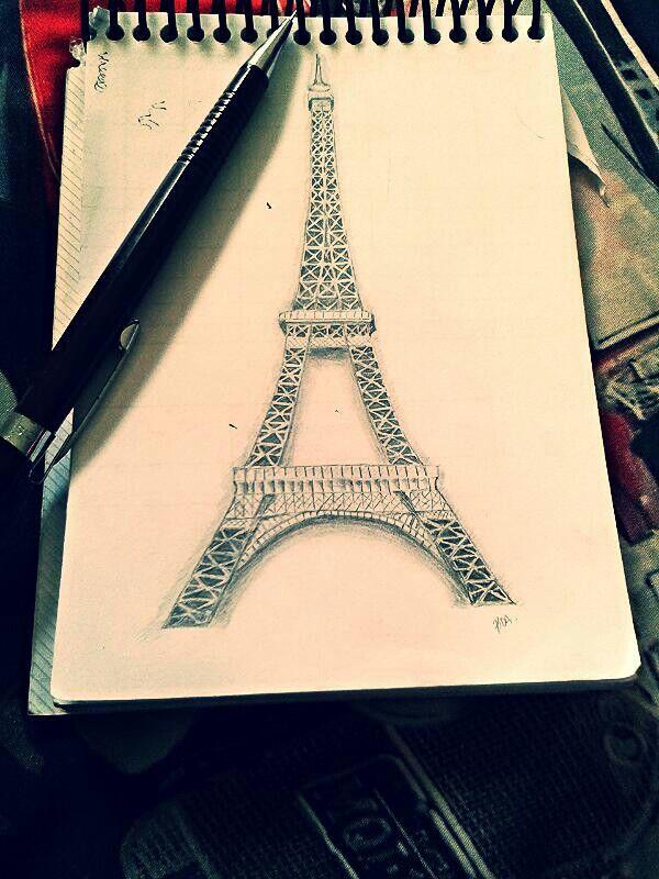 Eiffel tower #draw #eiffel #ilustration #pencil