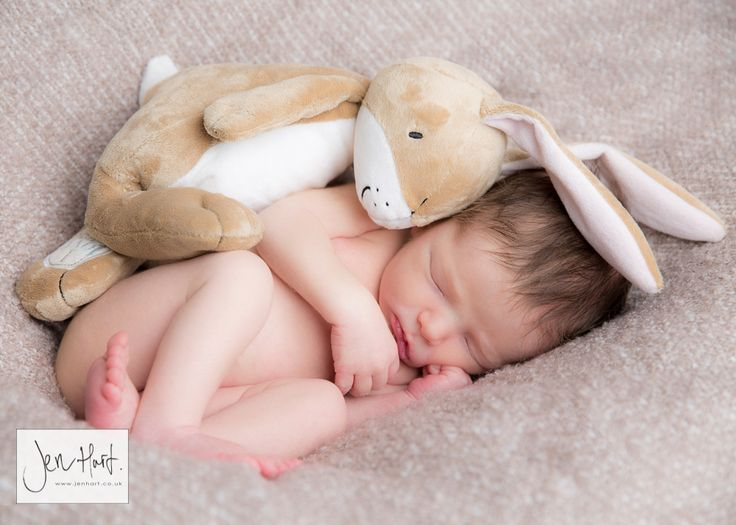 Newborn baby baby and bunny sleepy baby two weeks old newborn photography