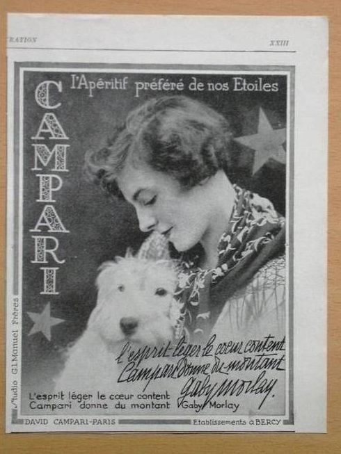 0 french actress gaby morlay with her terrier