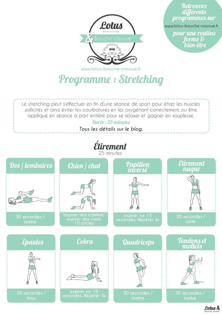 Programme de stretching / étirements : voici un programme complet qui permettra…