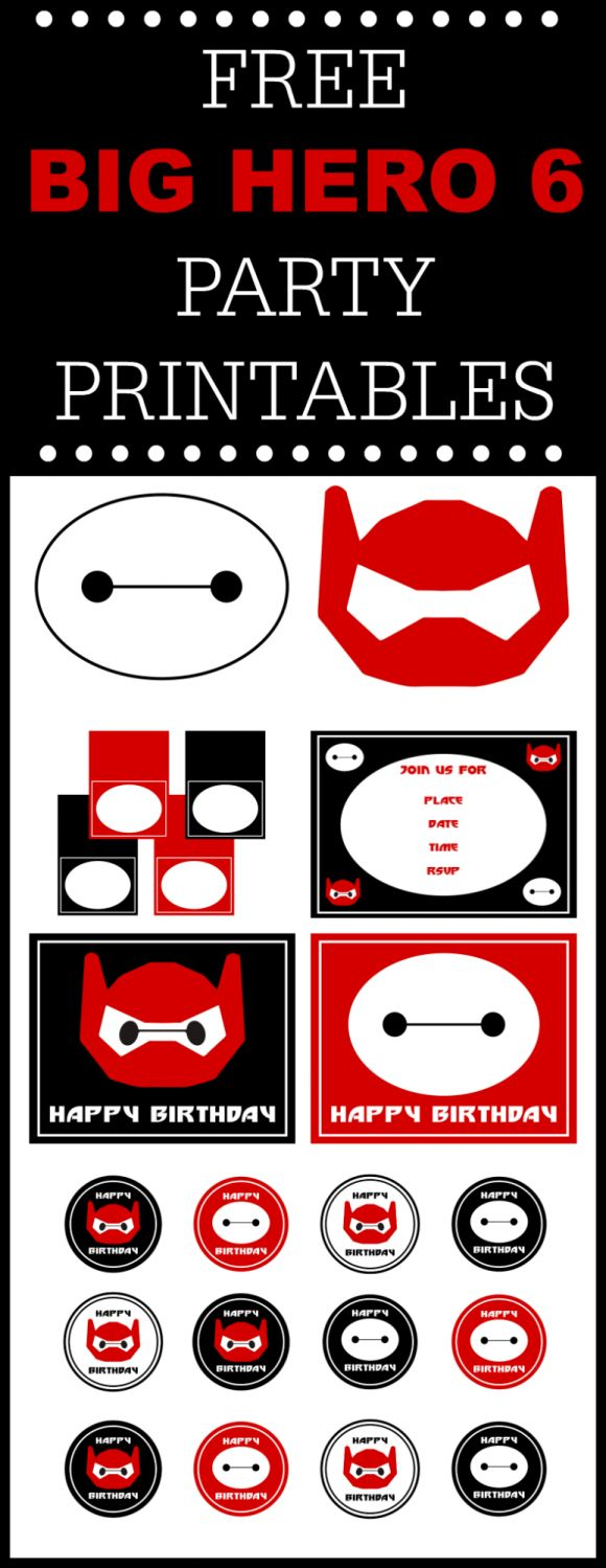 Big Hero 6 Free Printables