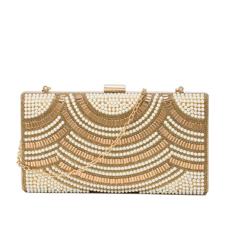 #Clutch Bag | Sparkle and shine with this shimmering clutch bag, perfectly complements our pearl showstopper | clutch bag | clutch bag pattern | Evening Bag | #gifts | #Accessories