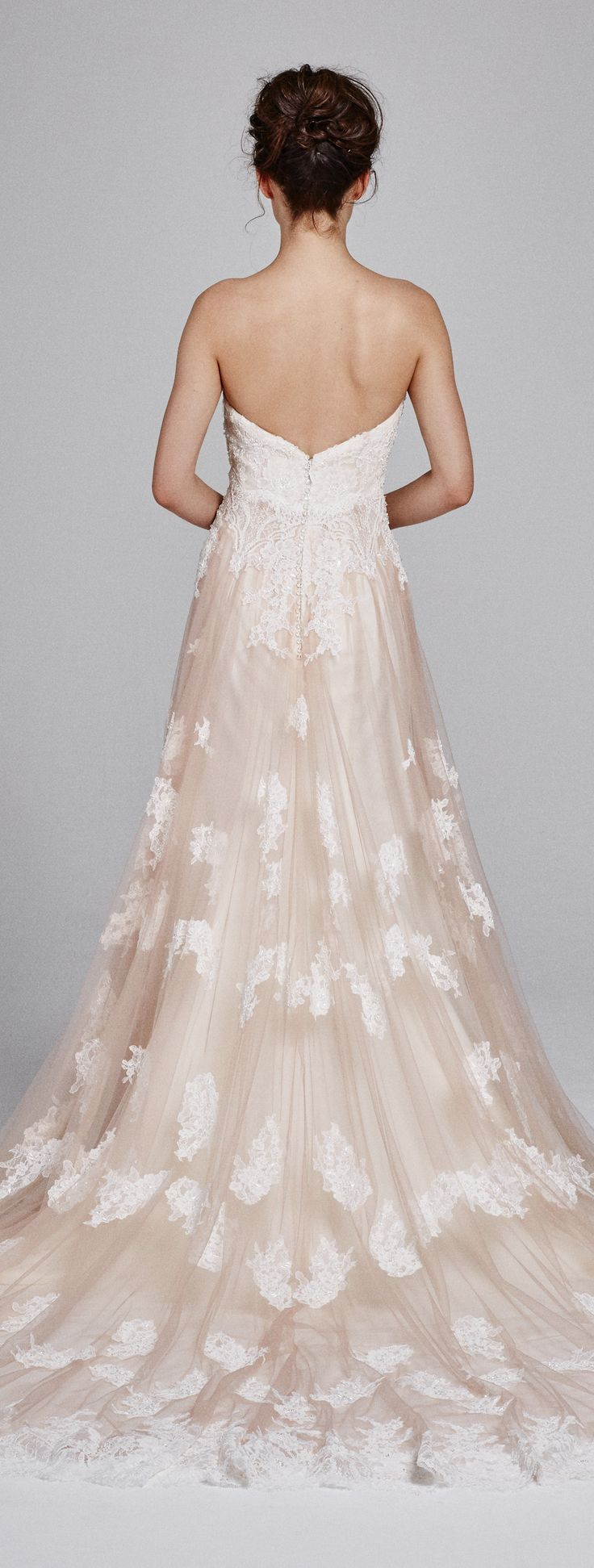 Blush lace wedding dress by Kelly Faetanini Fall 2017