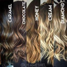 diferentes tonos de cabello que puedes usar por si quieres un look mas natural.