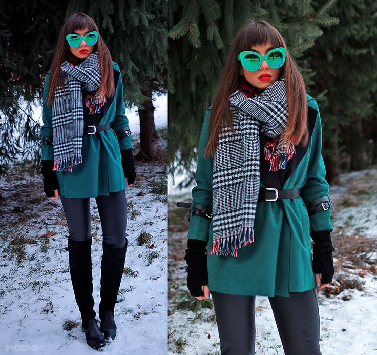green suede coat, cat eye sunglasses and over the knee boots: https://jointyicroissanty.blogspot.com/2017/01/green-coat.html  #streetstyle #fashion #ootd #fashionblogger