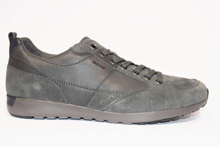 GEOX U54F8D 022ME C9002 JEPSON SUEDE WAX Sneakers Uomo Invernale Pelle Camoscio