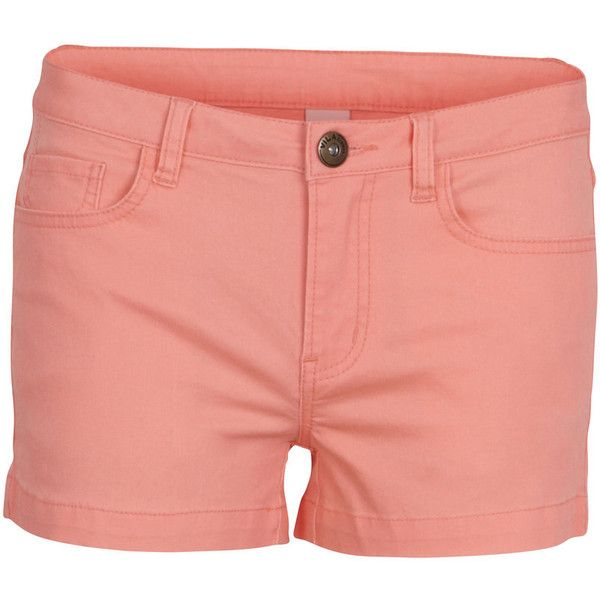 Vila Cleavo Low 5 Pocket Neon Shorts ($37) ❤ liked on Polyvore