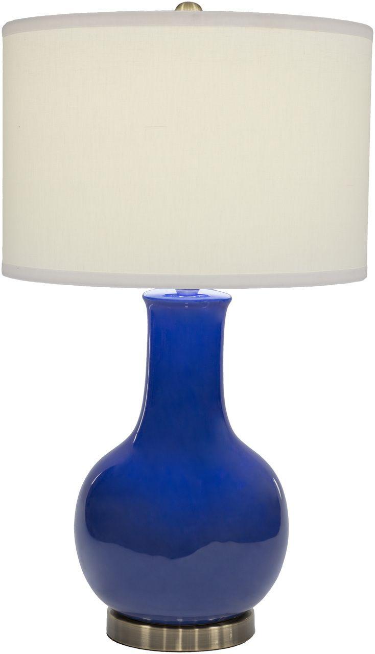 Polished Glimmer Lamp - Blue