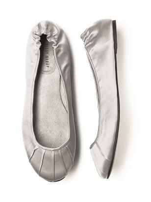 Cannot forget to order ballet flats to switch into at reception. Sore feet will not keep me from dancing!