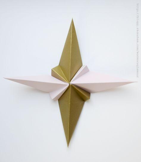 Idag visar jag hur man med papper och origamiteknik kan vika sin egna stjärna. Har gjort en steg för steg beskrivning på hur man gör, utgå alltid från ett fyrkantigt papper. Vänd den vikta sidan...