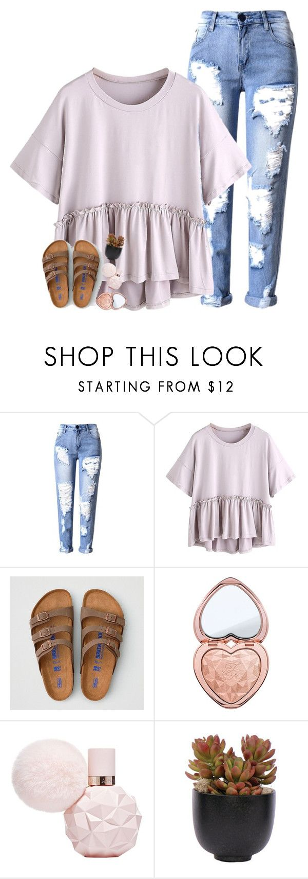 """""""lil life update🌱"""" by beingrach ❤ liked on Polyvore featuring American Eagle Outfitters, Too Faced Cosmetics, Lux-Art Silks and country"""
