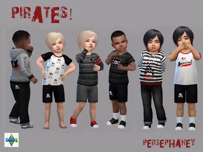 """The Sims 4: Ubranka """"Piraci"""" dla maluchów od Persephaney"""