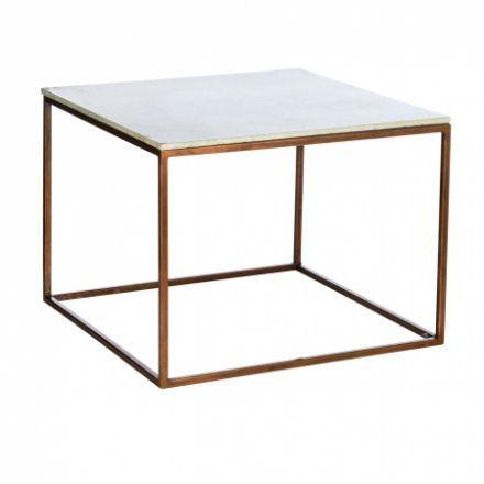 Tisch Aus Marmor Mit Kupferantikgestell   Desiary.de