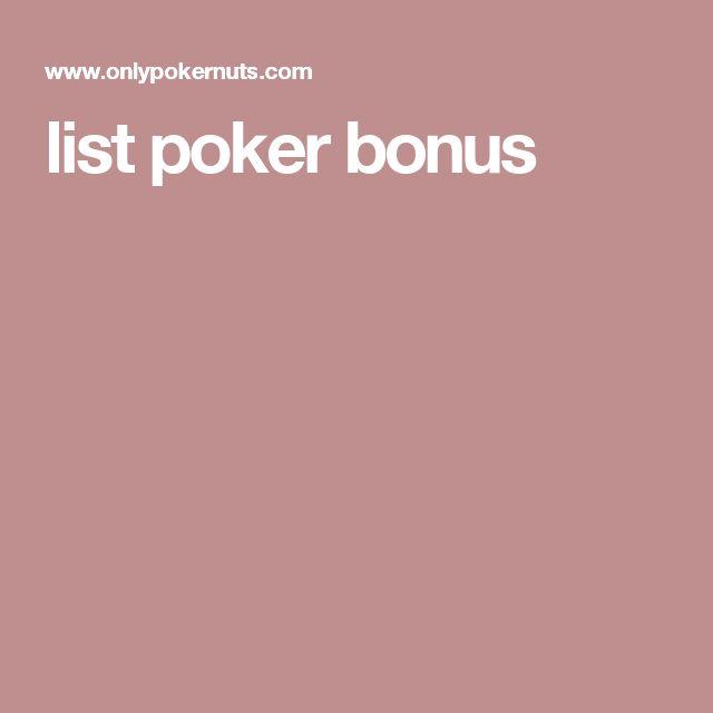 list poker bonus