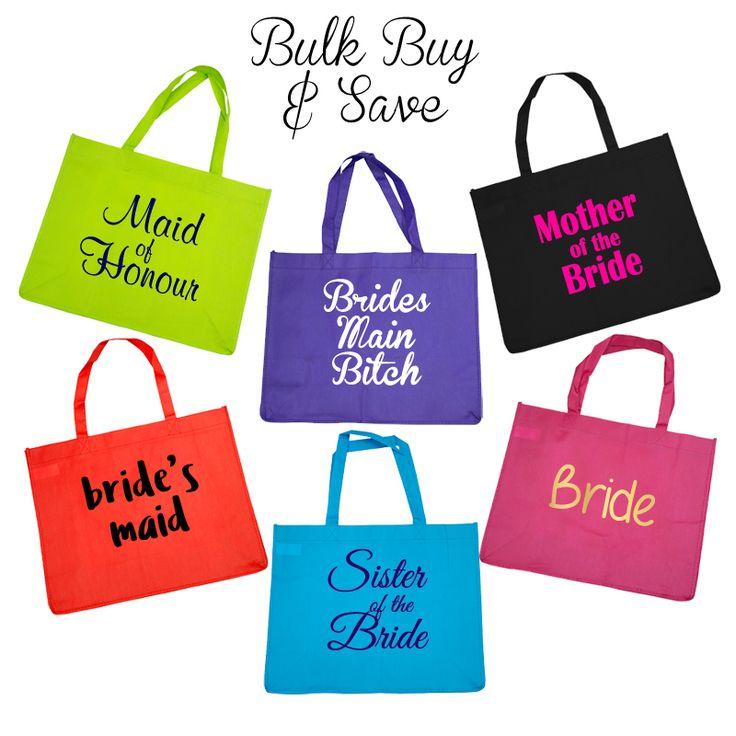 Bridal Party Budget Tote Bag - Bulk Buy