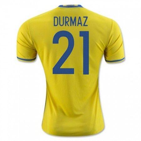 Sweden 2016 Durmaz 21 Hjemmedraktsett Kortermet.  http://www.fotballteam.com/sweden-2016-durmaz-21-hjemmedraktsett-kortermet.  #fotballdrakter