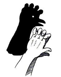 Handschaduwen - maak de leukste figuren op de muur met je handen