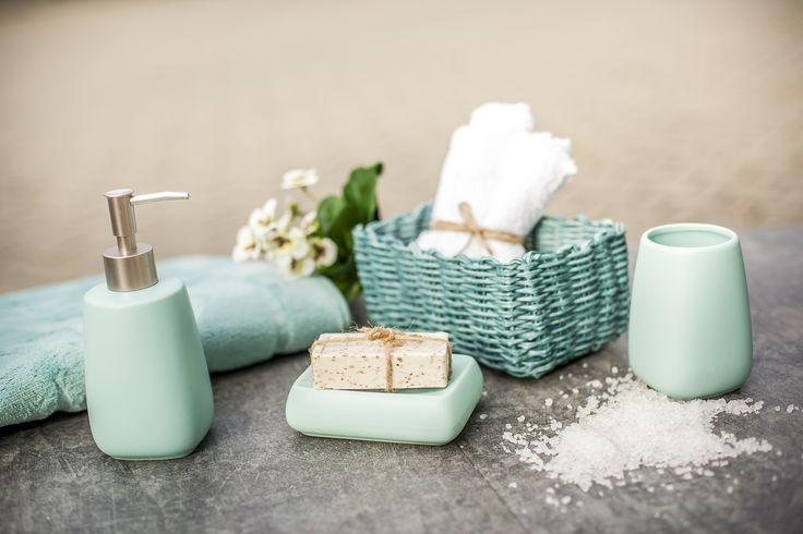 #Galicja #zestaw łazienkowy #dozownik #mydelniczka #bathroom #elegant  #turquoise