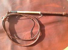 Stock whip, 6' x 12 Plait kangaroo hide whip, 'Will Dargan whips', stock whip
