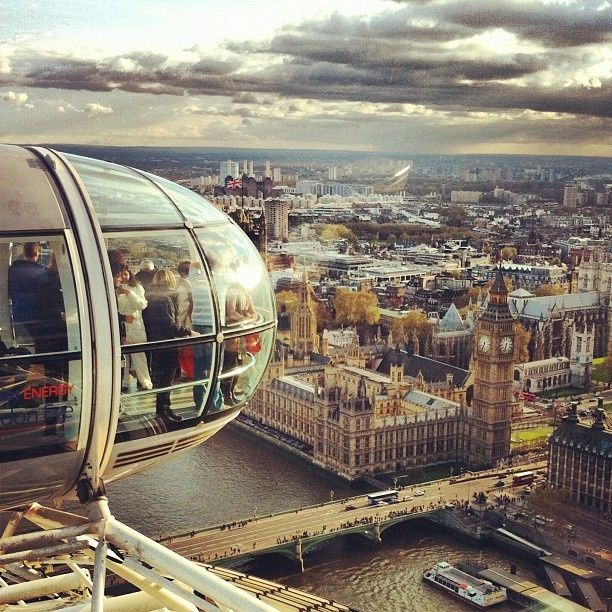 #PANDORAloves ... seeing the world from above. View from the London Eye ferris wheel #travel #london #londoneye