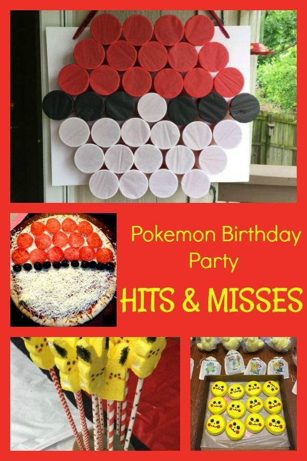 "What worked and what didn't for a pokemon birthday party. Plus plenty of pokemon birthday party ideas and how to create a punch pokeball game - it was a ""hit""!"