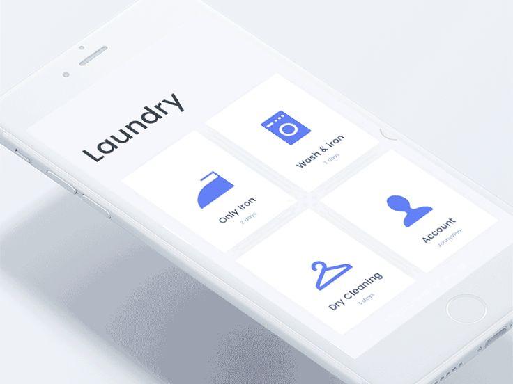 Laundry app concept for designer and developers by Johny vino #Design Popular #Dribbble #shots