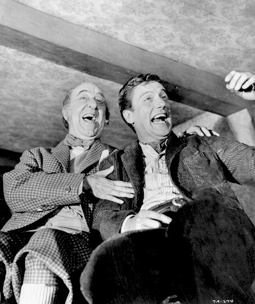 We love to laugh! Uncle Albert (Ed Wynn) and Bert (Dick Van Dyke) levitate when they laugh in Mary Poppins
