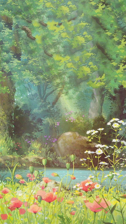 Studio ghibli Anime scenery, Studio ghibli art, Ghibli art