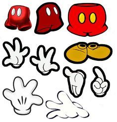 Mickey Hand Clip Art <b>mickey</b> mouse <b>hands clip art</b>  your wdw store - disney magnet ...