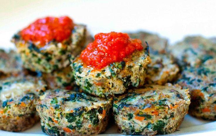 herzhafte Muffins -rezepte-hackfleisch-spinat-ohne-mehl