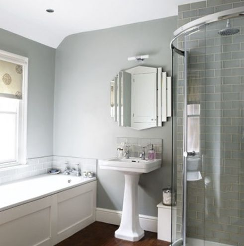 Grey deco-y bathroom. Would be like being in The Merchant :D