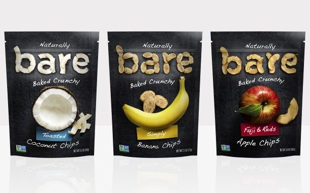 Natural fruit snack brand Bare launches modern packaging