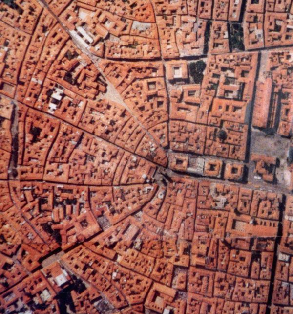 Medieval fabric of Bologna