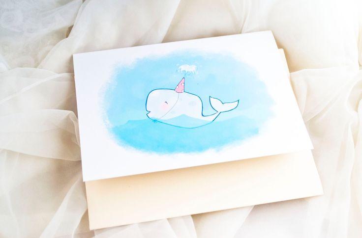 Partij walvis lege Happy Birthday van AwkwardAffections op Etsy