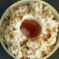 My colcannon recipe is made with the Irish trifecta: potatoes, cabbage and Irish whiskey.