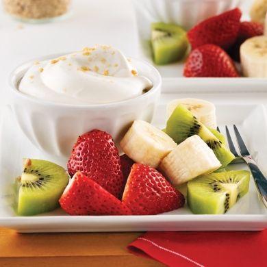 Trempette fouettée à l'érable et fruits - Desserts - Recettes 5-15 - Recettes express 5/15 - Pratico Pratiques