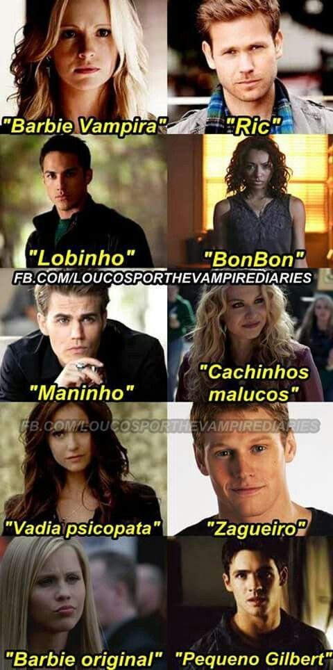Caroline, Ric, Tyler, Bonnie, Stefan, Liv, Katherine, Matt, Rebekah e Jeremy