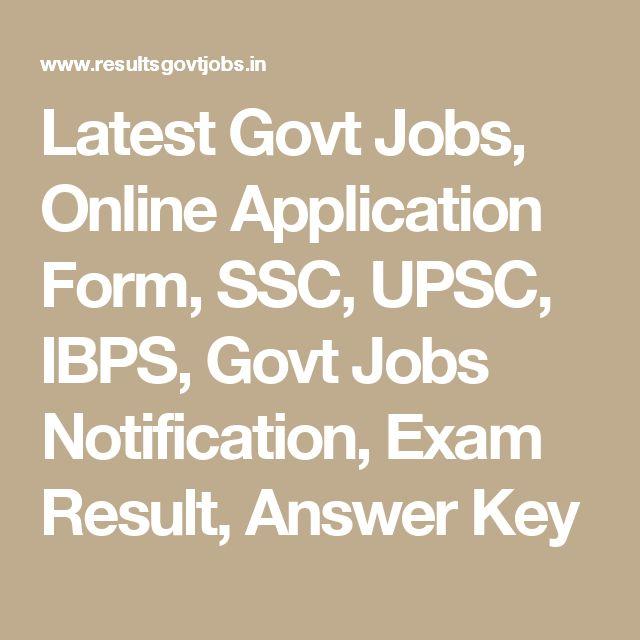 44 Best Latest Govt Jobs Images On Pinterest Application Form