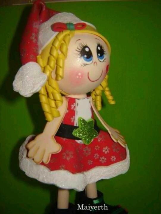 Navidad: Navidad Moldings, Fofucha O', Eva Navidad, Fofucha Navidad, Muñeca Fofucha, Christmas, Fofus Navidad, Fofucha En, Fofucha Dcr