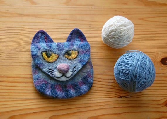 Felted Wool Purse Cat Purse Felted cat purse Wool Cat