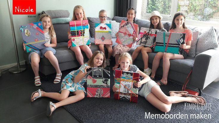 Kinderfeestje memoborden maken