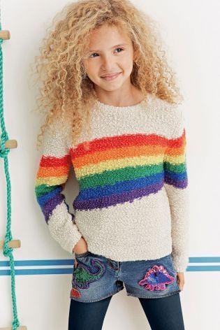 Купить Кремовый свитер с радугой (3-16 лет) Купить онлайн прямо сейчас на Next: Украина