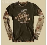 Ladies Long Sleeve Shirt, Country Girl