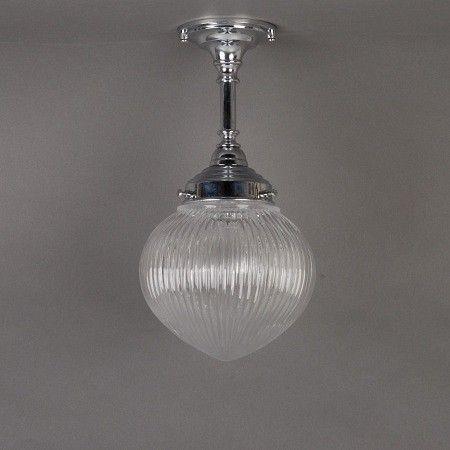 Badkamer hanglamp met industrieglas