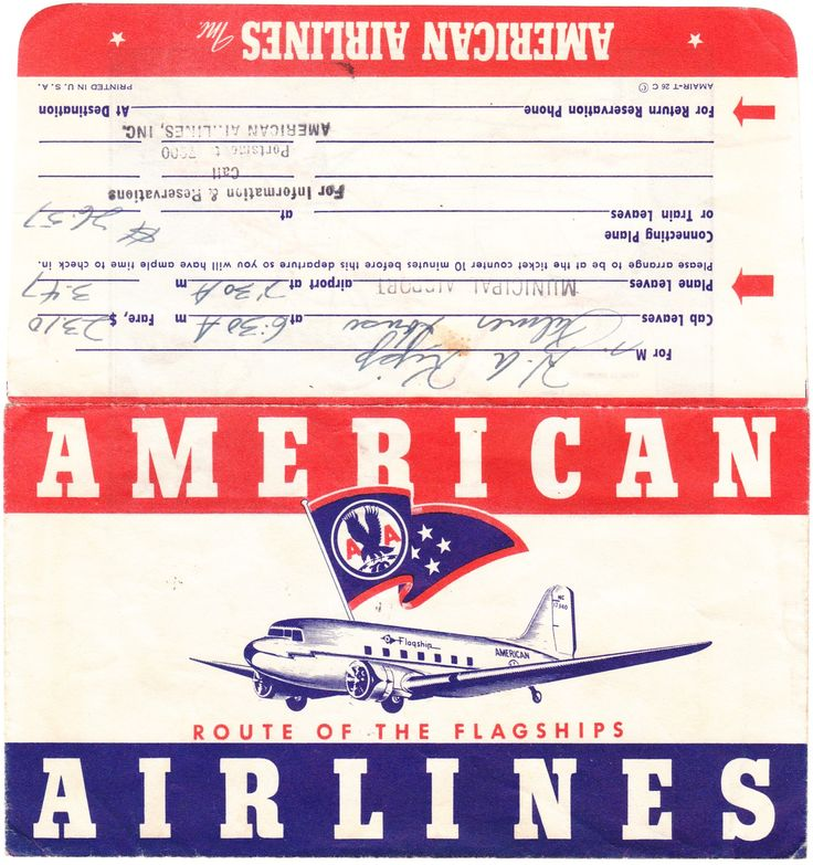 American Airlines Letu0027s Take a Plane Pinterest - printable fake airline tickets