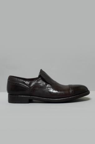 Washed leather Sleep on shoes Elias color Ignis Teak from Alberto Fasciani.