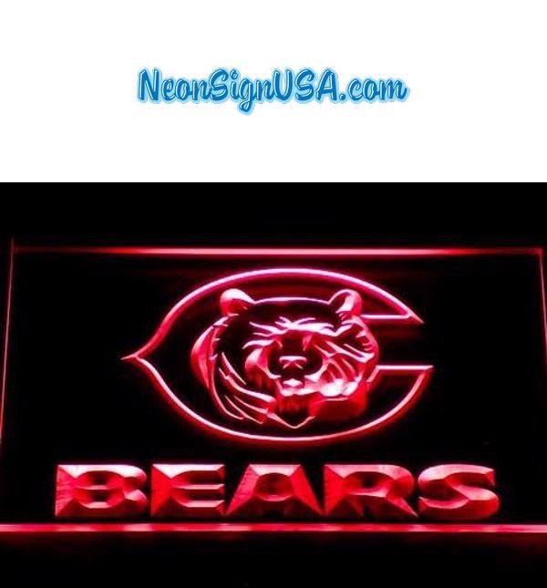 Chicago Bears Neon Sign (123-b. Light. Beer Bar. Pub. LED
