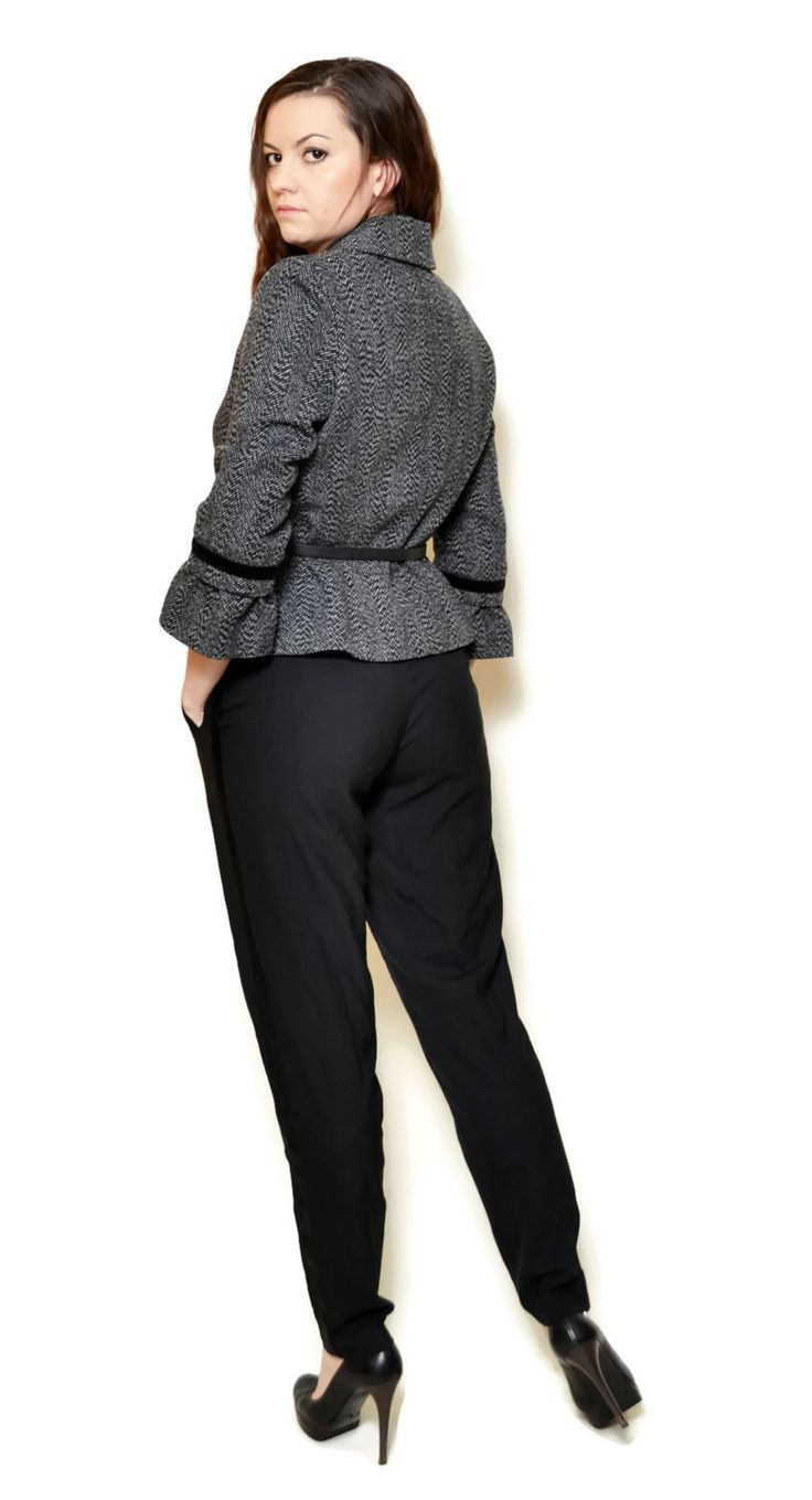 wool blazer outfit, grey blazer outfit work   US$29.95