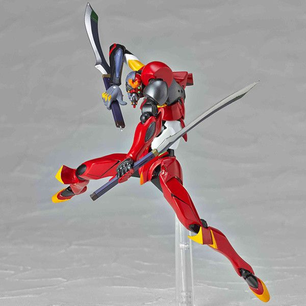 Asuka Shikinami Langley's Modified Eva Unit-02γ from the film Evangelion: 3.0 You Can (Not) Redo joins the Revoltech Yamaguchi lineup!  This is a model of the Eva Unit-02 that has been redesigned with stronger armor and a bigger arm. The left forearm can be interchanged with a gattling gun. Recreate your favorite scenes from the film! The abdomen is a three part cornice design. The area between ...