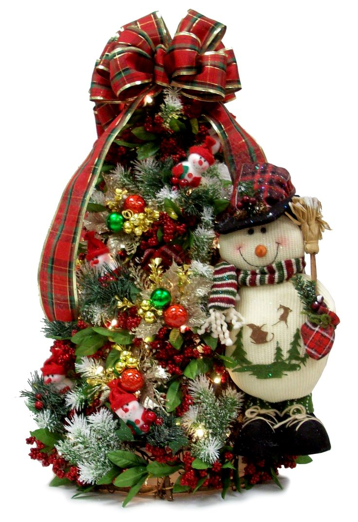 Snowman Tree designed by Karen B., A.C. Moore Erie, PA #christmas